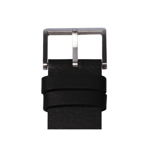 D38 steel case black leather strap tube watch leff amsterdam design by piet hein eek detail 1