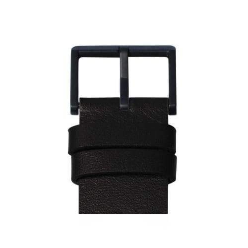 D42 black case black leather strap tube watch leff amsterdam design by piet hein eek detail