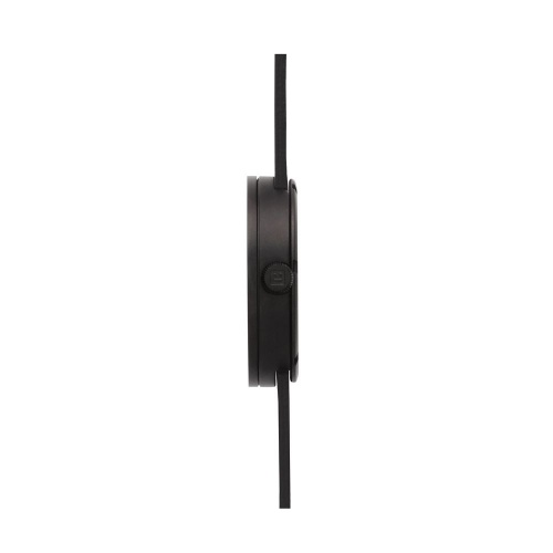D42 black case black leather strap tube watch leff amsterdam design by piet hein eek side