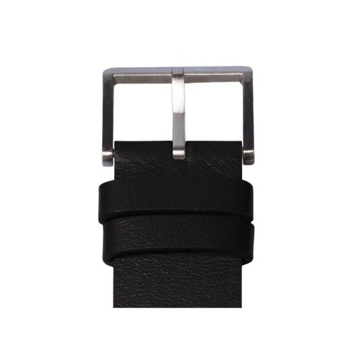 D42 steel case black leather strap tube watch leff amsterdam design by piet hein eek detail