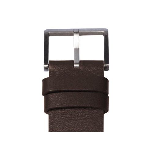 D42 steel case brown leather strap tube watch leff amsterdam design by piet hein eek detail