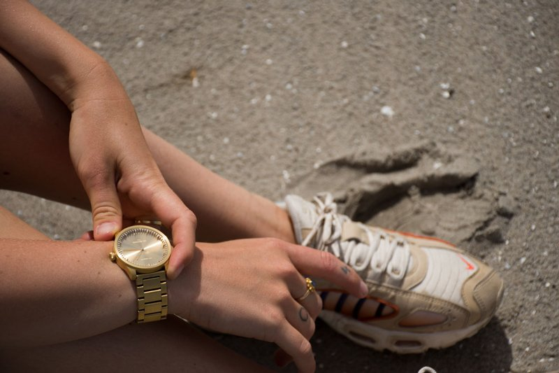 S38 brass tube watch leff amsterdam design by piet hein eek