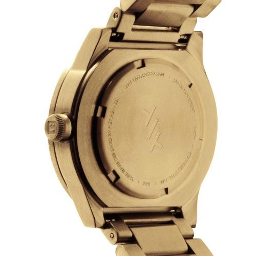 S38 brass tube watch leff amsterdam design by piet hein eek back