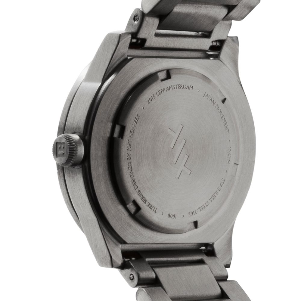 S38 steel tube watch leff amsterdam design by piet hein eek back