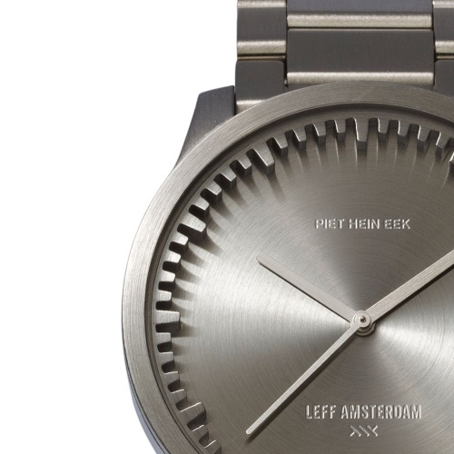 S38 steel tube watch leff amsterdam design by piet hein eek detail