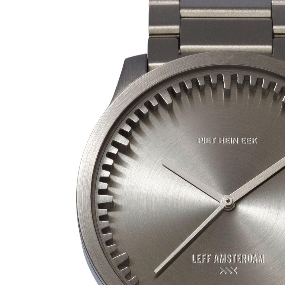 S38 steel tube watch leff amsterdam design by piet hein eek detail