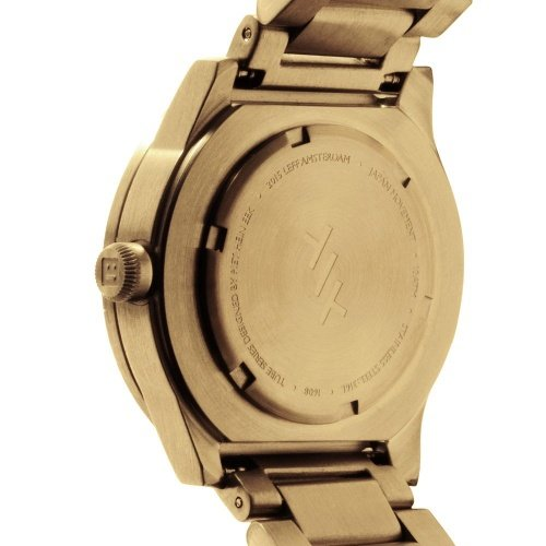 S42 brass tube watch leff amsterdam design by piet hein eek back