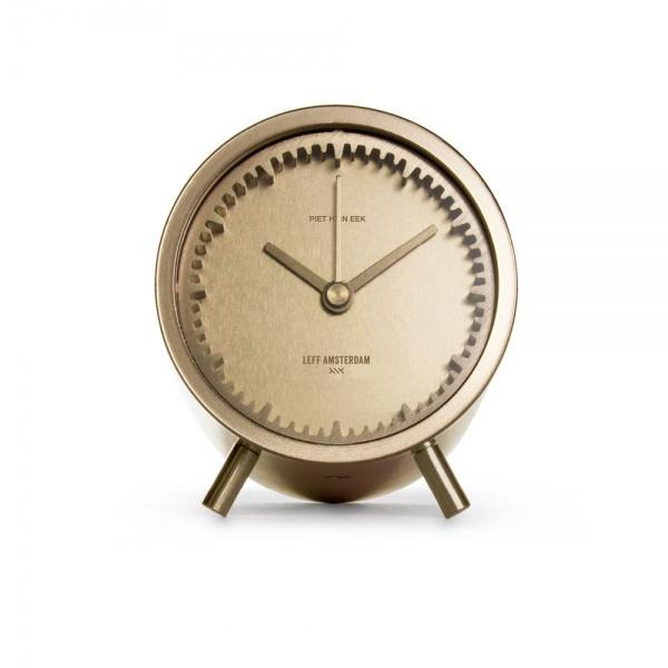 leff amsterdam tube clock brass designed by piet heijn eek 2