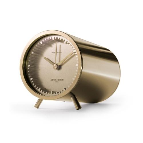 leff amsterdam tube clock brass designed by piet heijn eek iso 1