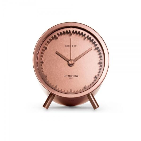 leff amsterdam tube clock copper designed by piet heijn eek 2