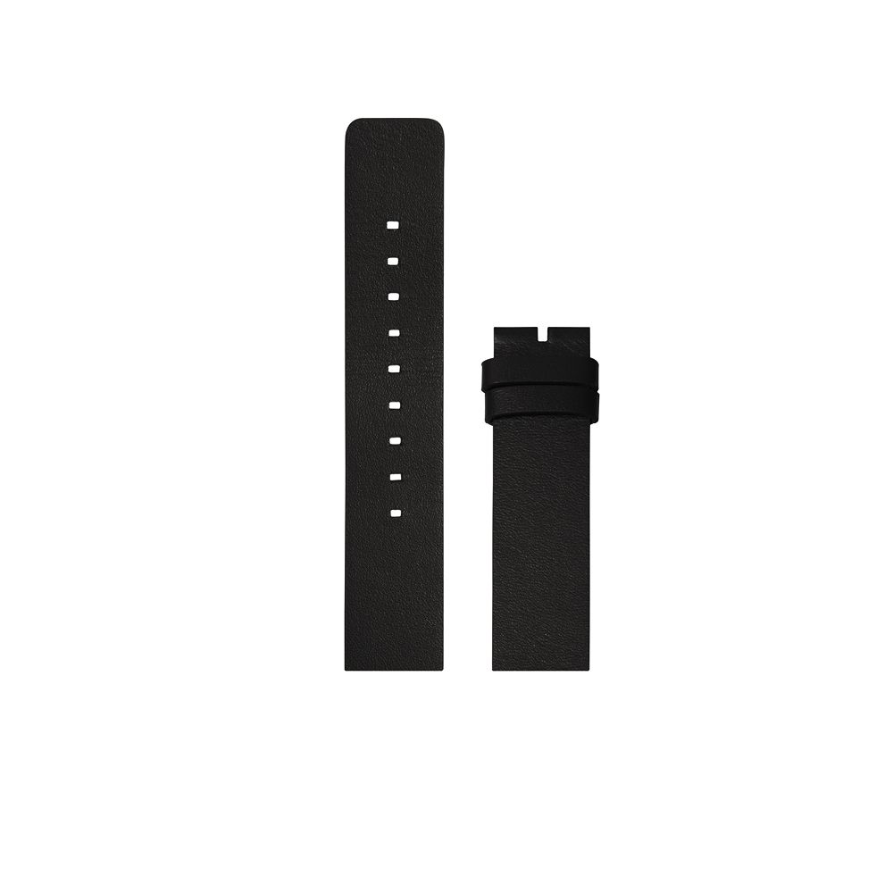 D38 black leather strap tube watch leff amsterdam design by piet hein eek