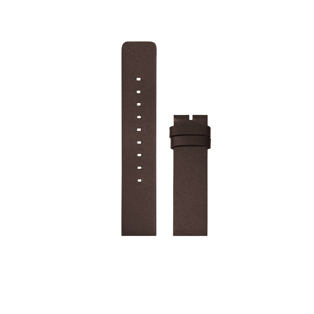 D38 brown leather strap tube watch leff amsterdam design by piet hein eek
