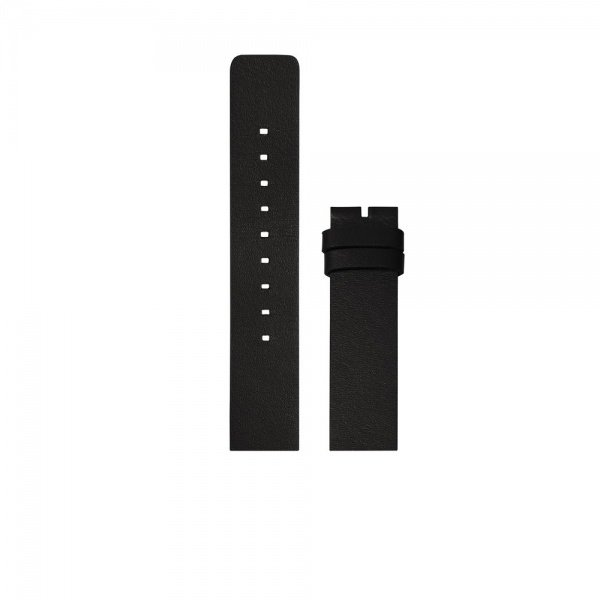 D42 black leather strap XL tube watch leff amsterdam design by piet hein eek