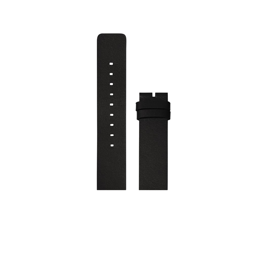 D42 black leather strap tube watch leff amsterdam design by piet hein eek