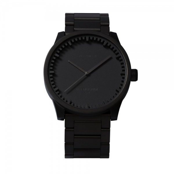 S38 black tube watch leff amsterdam design by piet hein eek