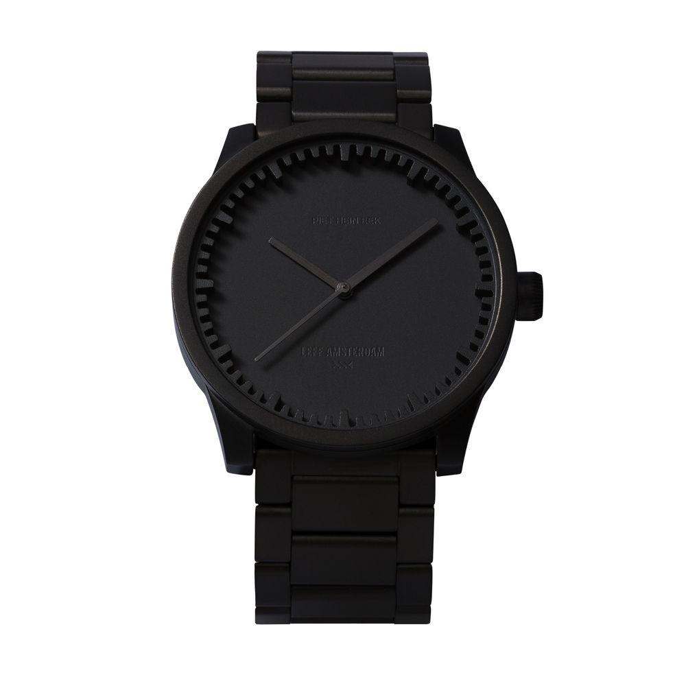 S38 black tube watch leff amsterdam design by piet hein eek