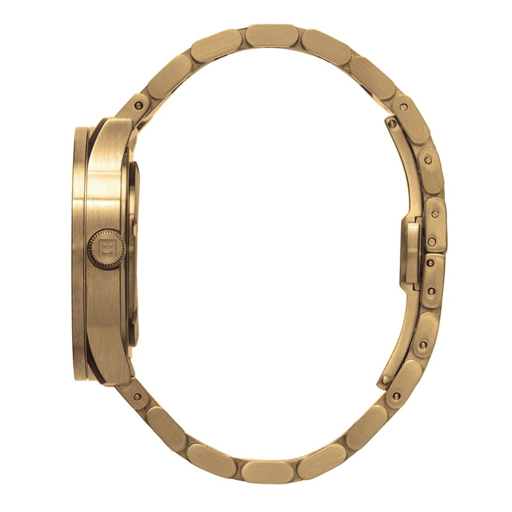S38 brass tube watch leff amsterdam design by piet hein eek side