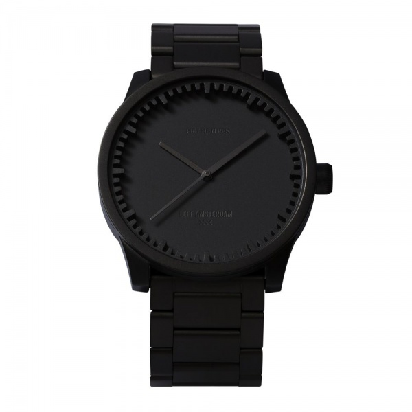 S42 black tube watch leff amsterdam design by piet hein eek