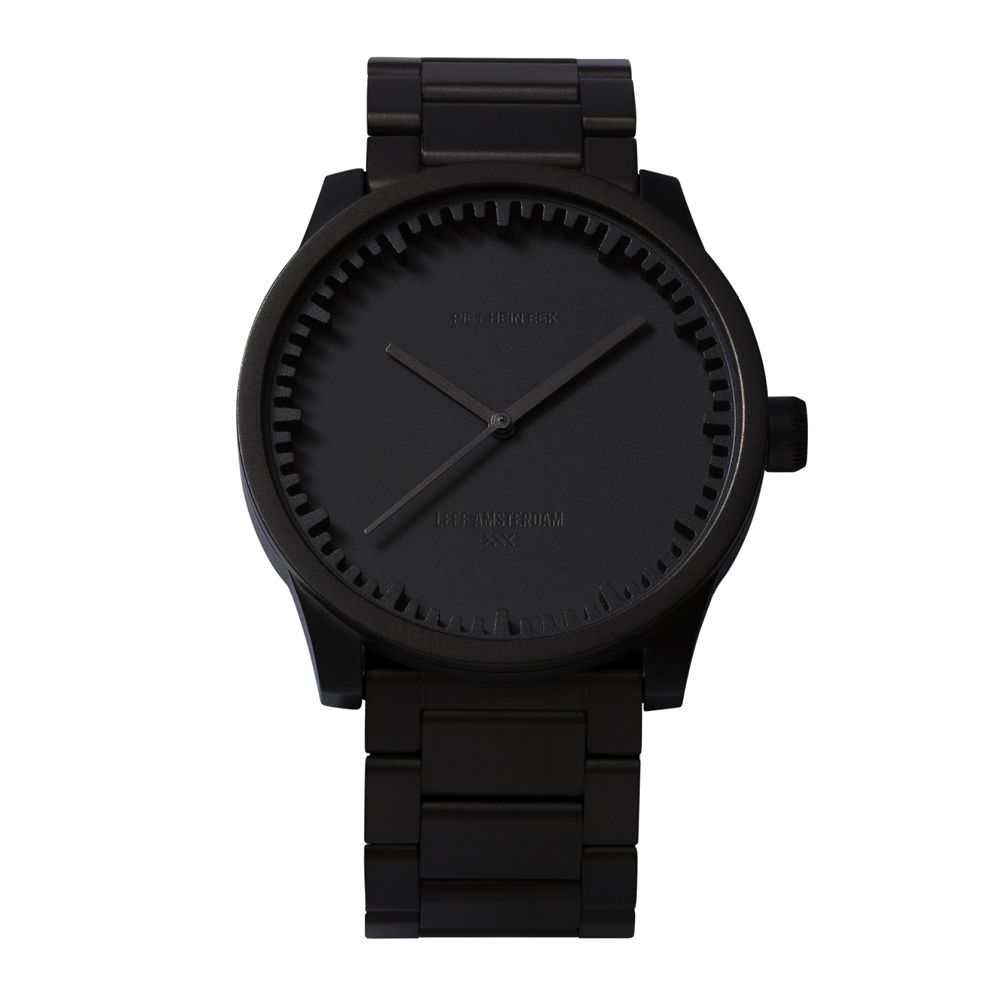 S42 black tube watch leff amsterdam design by piet hein eek