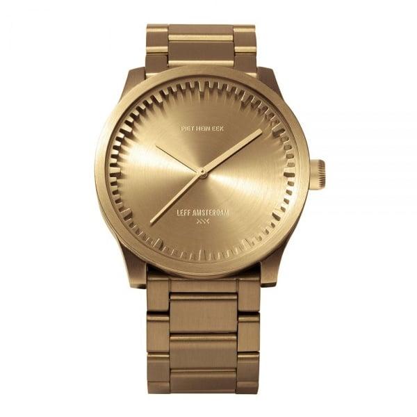S42 brass tube watch leff amsterdam design by piet hein eek
