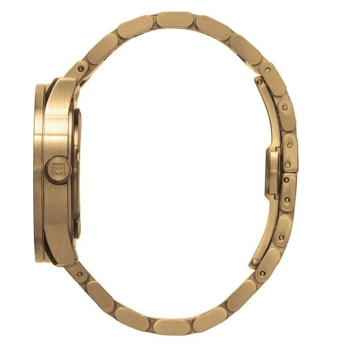 S42 brass tube watch leff amsterdam design by piet hein eek side