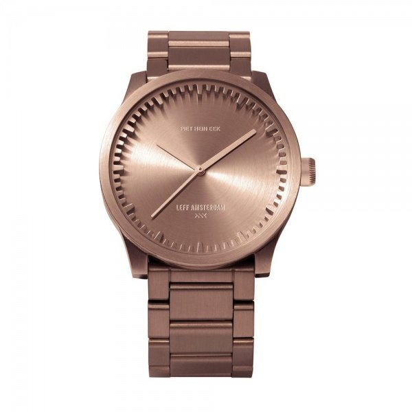 S38 rose gold tube watch leff amsterdam design by piet hein eek
