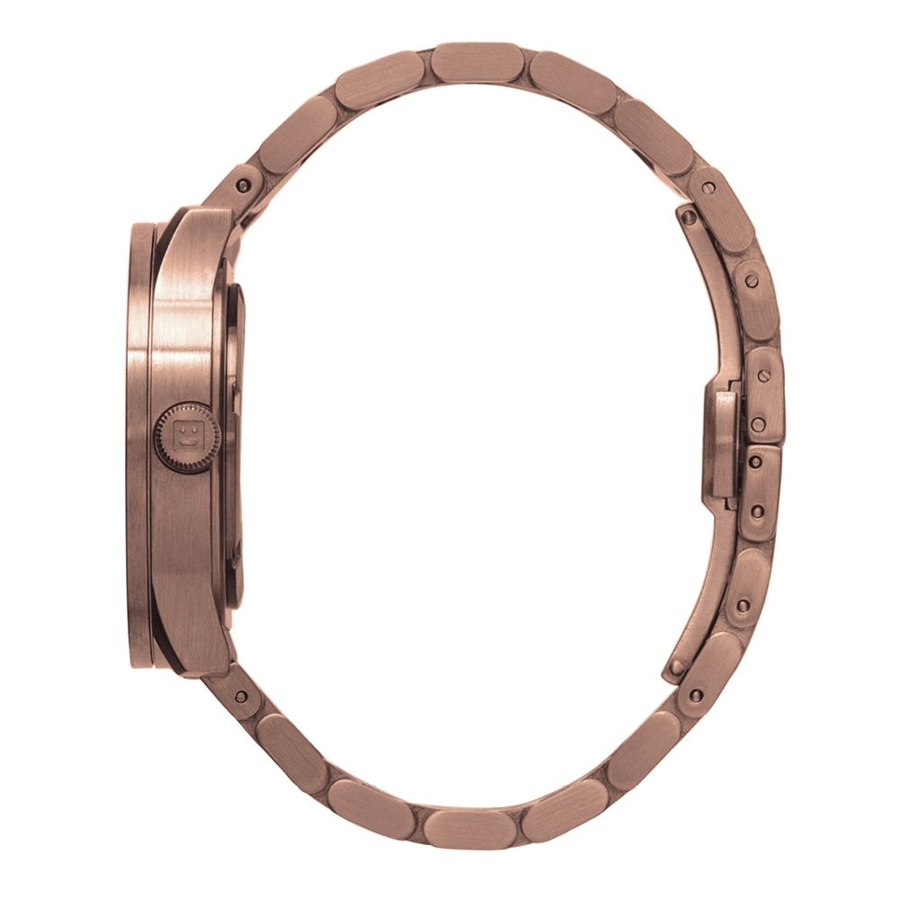 S38 rose gold tube watch leff amsterdam design by piet hein eek side