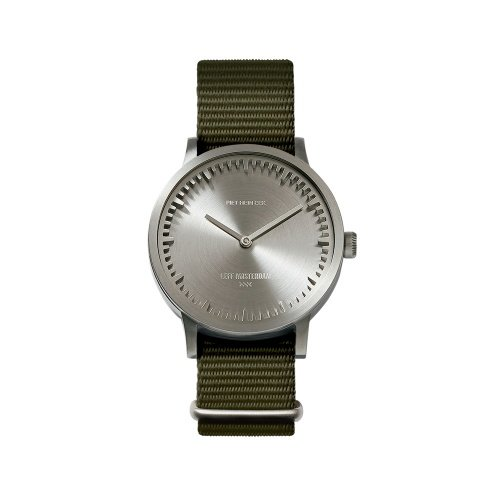 Tube watch T32 steel   green nato strap 7672039af