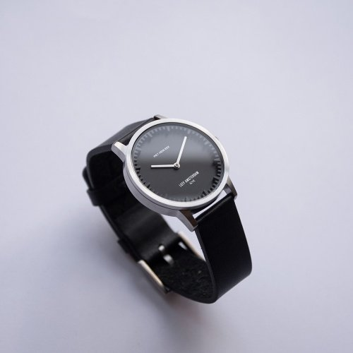 LEFF amsterdam Tube watch T32 Classic Steel/black