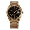 Leff amsterdam Tube watch S42 date brass with black case