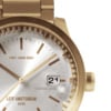 Leff amsterdam Tube watch S42 date brass with pearl case